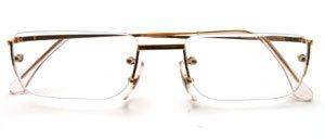 Randlose 4-Loch Bohrbrillen Fassung  in goldfarben mit Lesegläsern in versch