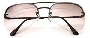 "Semi - rimless 4 - hole drilling mount, ""GALAXY"" 80s, in black matt or chrome"