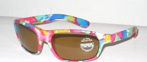 Bunte, frische Kinder Sonnenbrille mit helleren braunen Scheiben mit 100 % UV - Schutz
