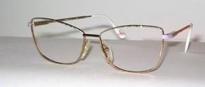 Sehr attraktive silber/ gold bicolor Fassung in dekorativer Materialgravour