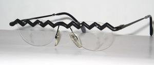Lustige Oberbalken Brillenfassung in Aluminium