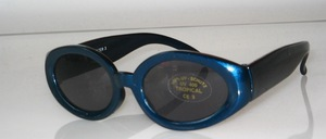 Fixed oval kids sunglasses Color: Shiny dark blue Slices: Gray, Tint Tier 3, CE standard, 100% UV protection
