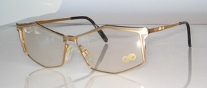 Noble, high quality gold-silver bicolored metal frame from Italy