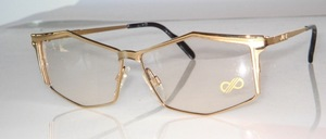 Noble, high-quality gold matt / shiny combined metal frame from Italy