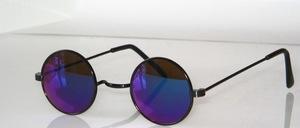 Kleine runde Metall Sonnenbrille im Harry P