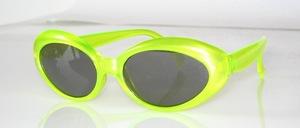 Kids sunglasses in shiny neon - yellow