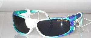 Kinder -Jugend Sport Sonnenbrille mit echtem Leder- Seiten-und Nasenschutz