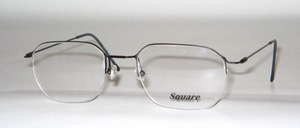 A feathery, semi-rimless, super thin Nylor stainless steel frame