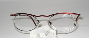 Oval metal eyeglass frame, Made by La Porte in Italy