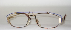 Elaborately styled eyeglass frame, Made in Italy