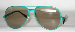 Pilot Sonnenbrille aus Aluminium Spritzguß der 80er Jahre