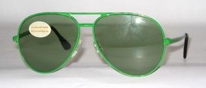 Pilot Sonnenbrille aus Metall der späten 70er Jahre von Pittion Frankreich