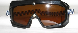 Older motorcycle or wind protection goggles in brand new condition