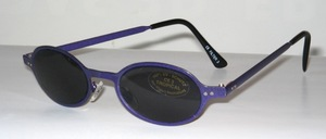 Chic youthful metal sunglasses in purple lacquer