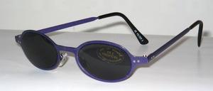 Schicke jugendliche Metall Sonnenbrille in Lila Lack