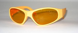 Children's sunglasses made of soft rubber material, but still a good fit