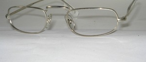 A classic reading glasses metal frame with good long straps