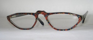 An extravagant high-quality acetate half-frame from Italy