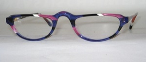 A subtly colorful high-quality acetate half-frame frame from Italy