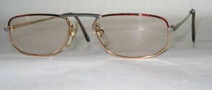 A flat metal frame with good long temples - also available as reading glasses