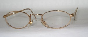 Slightly smaller, robust oval metal frame from Italy