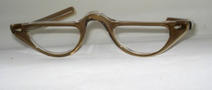 From the 60s: Beautiful acetate half-moon frame in half-moon look with straight temples, Made in France for SELECTA USA