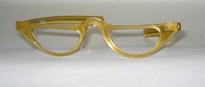 Aus den 60er Jahren:  Wunderschöne  Azetat  Halbbrillenfassung im Halbmond -Look mit geraden Bügeln,  Made in France für SELECTA USA