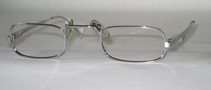 A well designed reading glasses metal frame with top pads and wide bridge
