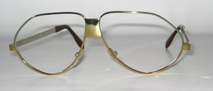 A fancy metal design eyeglass frame you will not find every day
