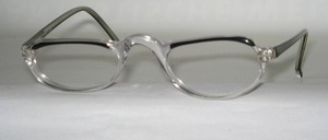 An Acetate Ladies Half Glasses Reading Case, Made in Italy for K + B