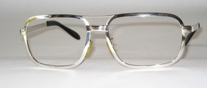Stable, high-quality, very large 70s genuine rhodium plated Frame from SELECTA USA
