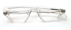 From the 80s: A special men's acetate half-frame with metal upper bars and straight straps, Made in France for SELECTA USA