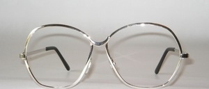 Sturdy, high quality, very large 70s high fashion chrome frame