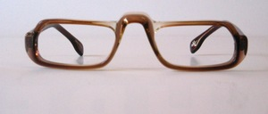 A sturdily crafted acetate half frame or eyewear frame, Made in Hong Kong