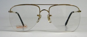 A large, semi rimless 4-hole pilot drill goggles, rhodium-plated