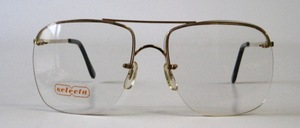 A slightly larger, rimless 4-hole metal drill goggles in stable, excellent quality