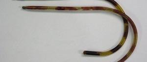 Aus alten Fabrikbeständen einge-troffen:<br /> Bügel: Weiche Gespinstbügel<br /> Farbe: Nickel, Bernsteinbraun komplett antiallergisch überzogen