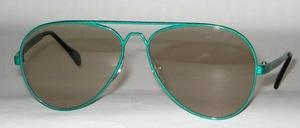 Dünne, leichte Pilot Sonnenbrille aus Aluminium Spritzguß,  80er Jahre