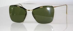 Echt alte randlose unisex Sonnenbrille aus den echten 50er Jahren, Made in Germany