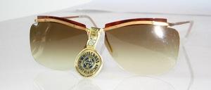 Echt alte randlose ' WHITE CROSS ' Sonnenbrille aus den 50er Jahren, Made in France