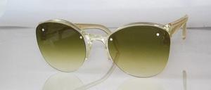 Echt alte randlose kristallgelbe Sonnenbrille aus den 50er Jahren, Made in Germany