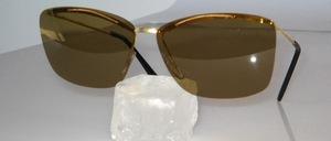 Echt alte randlose Sonnenbrille aus den 50er Jahren, Made in Germany