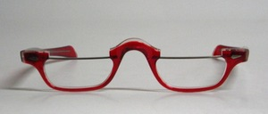 "From the real '80s: A special men's acetate half-frame with metal upper bars and straight ""temples"""