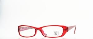 Eine attraktive, klassische  rote Damen Kunststoff Fassung in zeitlosem Design