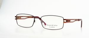 A high-quality men's metal eyeglass frame, a bit in the techno look