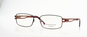 Eine hochwertige Herren Metall Brillen-fassung, bisschen im Techno Look