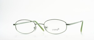 A classic, almost oval ladies metal frame with comfortable flex straps