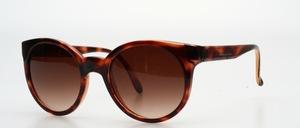 Eine klassisch, ausdrucksstarke runde Sonnenbrille für Frauen
