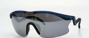 A panorama sports sunglasses with ergonomically shaped temples