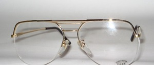 High-quality, half rimless larger Nylor gentlemen's Frame of the 80s